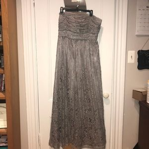 Long Lace Gown Size 16 one shoulder